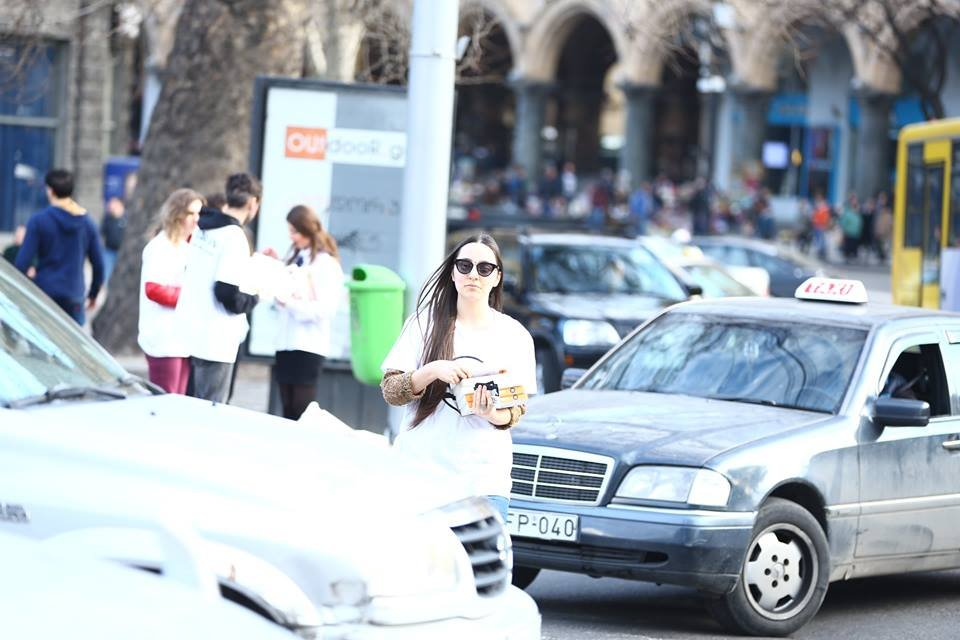 Event for the pedestrian rights in Tbilisi