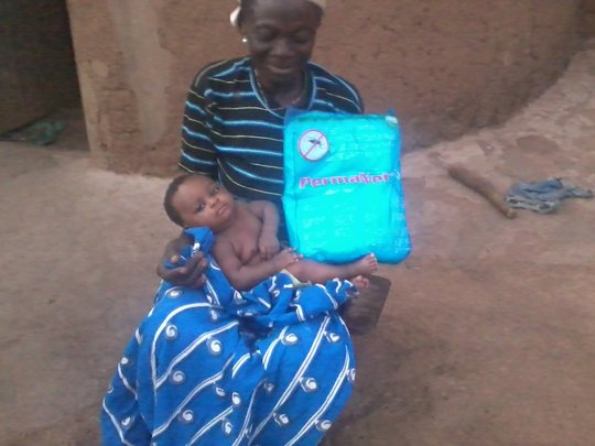 A mother and her baby are now safe at night!!!!