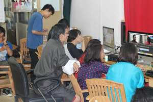Focussed: participants editing their videos