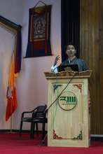 Kencho during advocacy campaign at RIM, Thimphu.