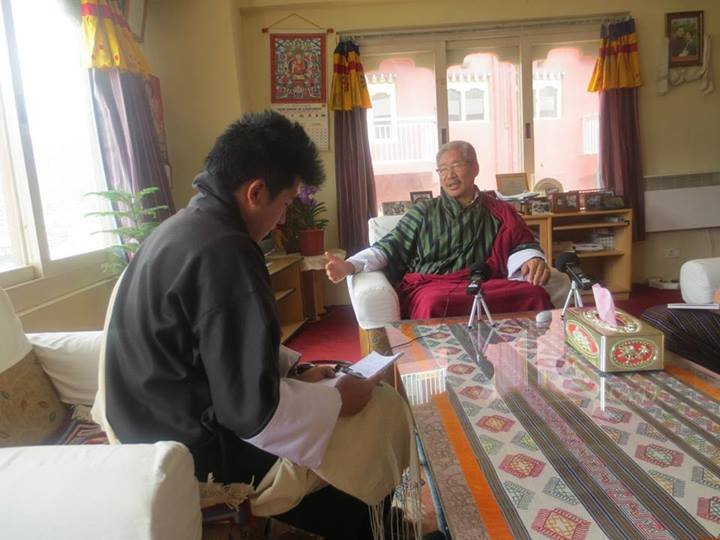 Interviewing Election Commissioner for a story