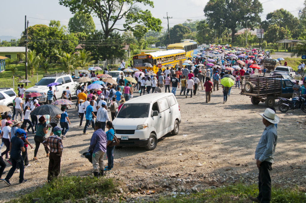 World Water Day March on Honduran Highway