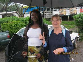 Lynne and Bonakanda Volunteer Teacher