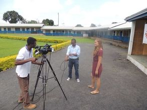 Antonia speaking to local news about YAN