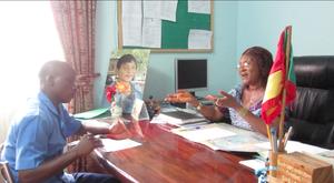 Nelson Interviewing Principal Ayompe Haddassah
