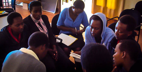 The Step Forward team of the Girls Academy