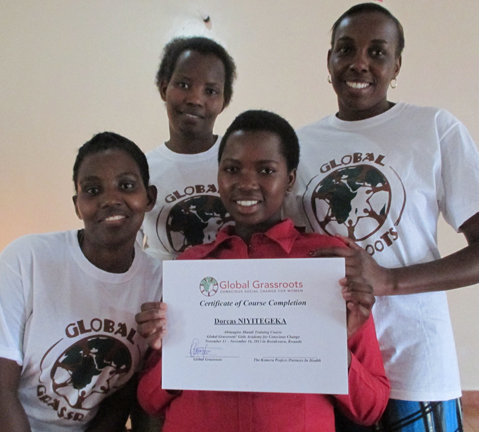 Proud student with Global Grassroots team