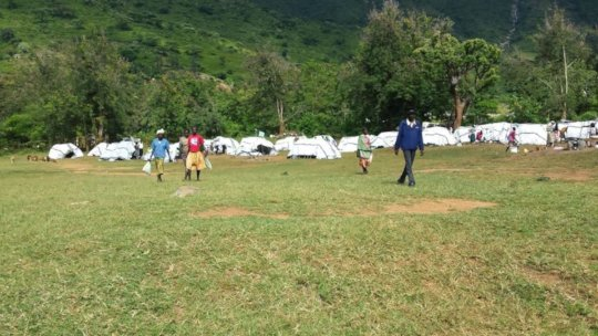 IDP camp housing over 300 people