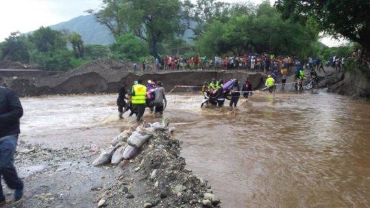 Infrastructure damage hampers aid efforts