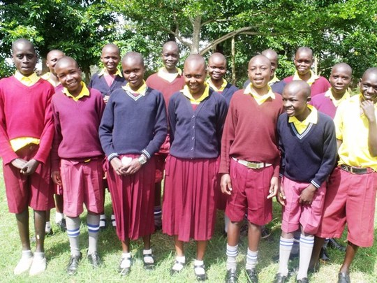 Children from the centre in school