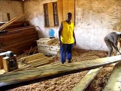 Fofana monitors his men at work