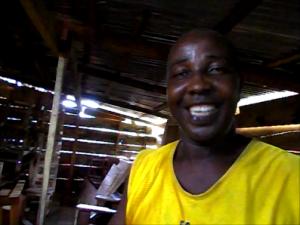 Woodshop owner Fofana Sadiko
