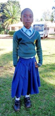 Ines in School Uniform