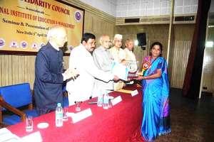 CMM President receivesMother Teresa National Award