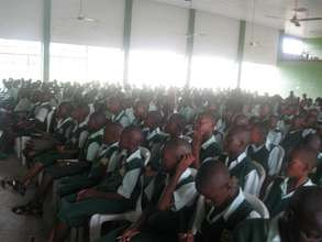 Students at a training on sexual abuse prevention
