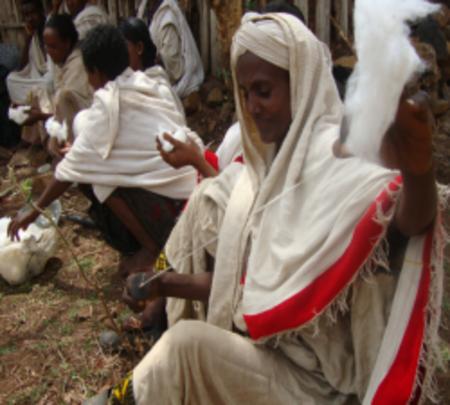 Abebayitu, a woman rice farmer, established Enyesh