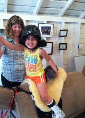 Making huge strides with Hippotherapy!
