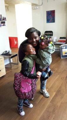 Breona and kids; happy in their safe home!