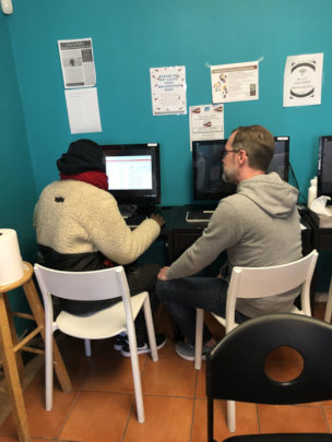 Volunteers provide resume building support