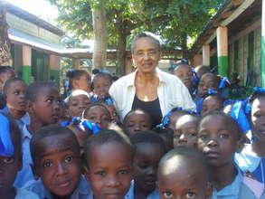 Welcoming school children