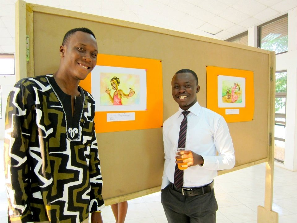 Sela Adjei and El Carna by their illustrations