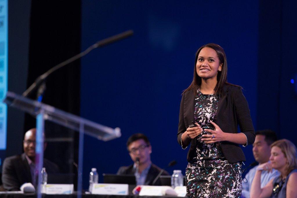 Ambar presenting at the National Challenge