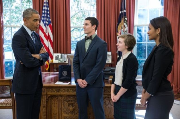 Ambar (far right) meeting Pres. Obama with NFTE
