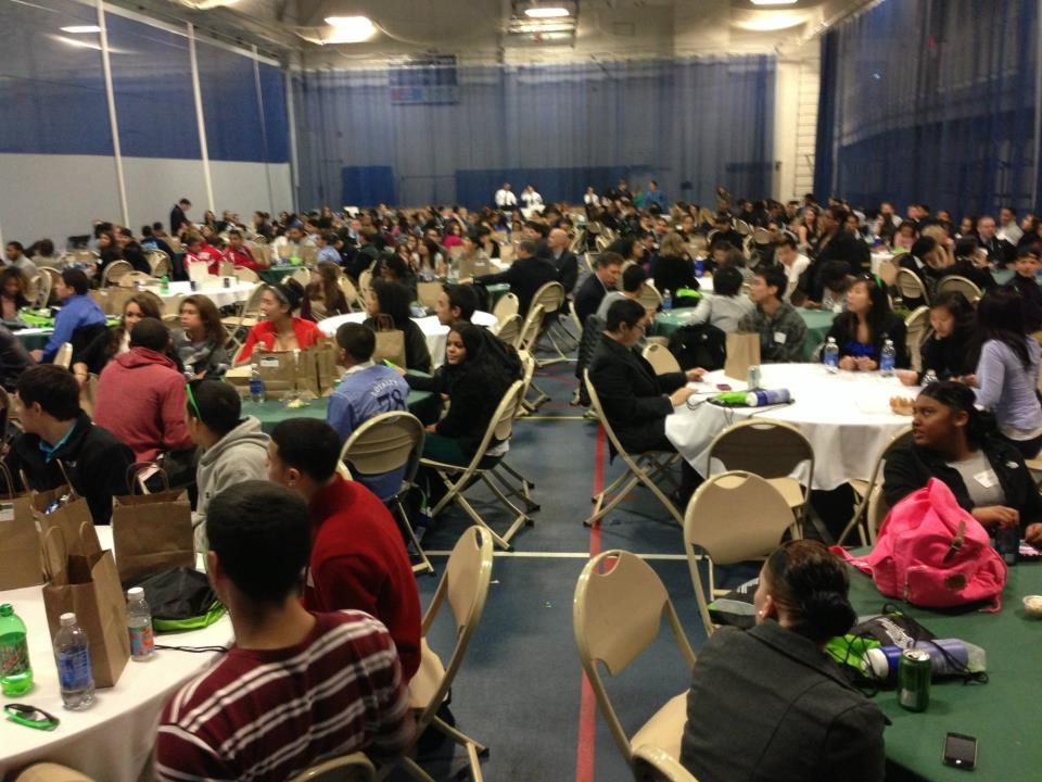 all YEC students gathered together for lunch