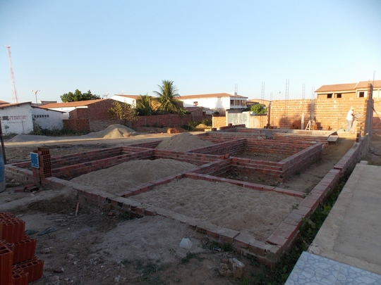 Foundation and outline of school rooms