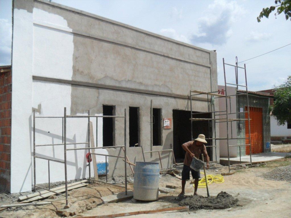 Facade of the new school house