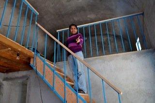 Xitlali Mariana is proud of her new sleeping loft!