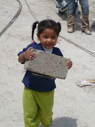 Little Jimena Pitches in to Build Her Casita