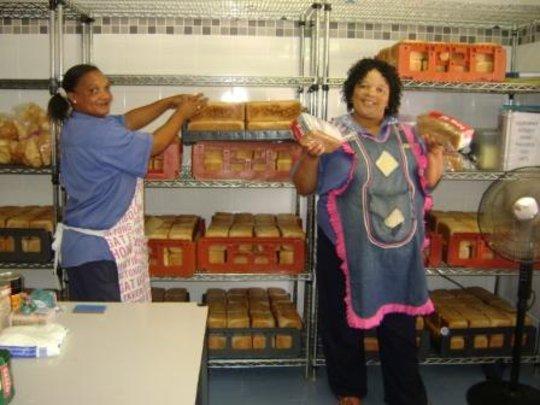 Our lovely ladies in the kitchen, Julia & Jossita