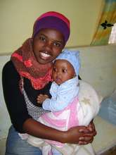 Thobeka and her little sister at the Care Centre