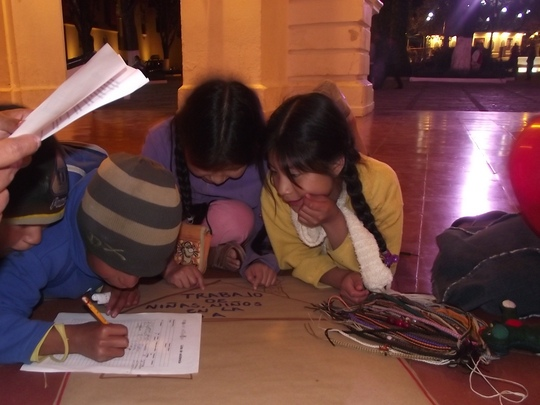 Sessions with children at the night market