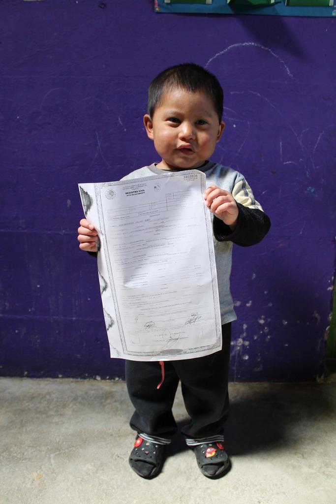 My birth certificate!
