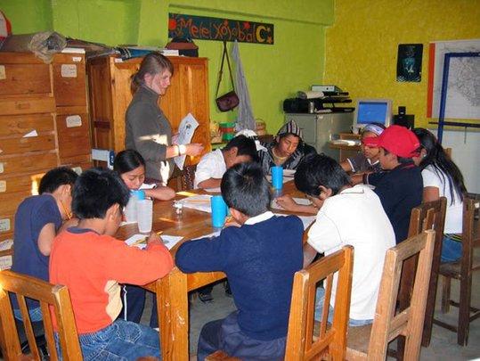 Learning circle at Melel Xojobal's premises