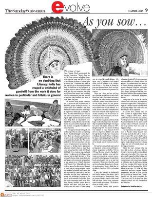 Leading English Newspaper The Statesman coverage