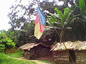 The King palace of the Mingo'o village