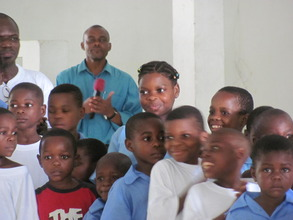 Mingo'o pupils during their visit to Kribi town