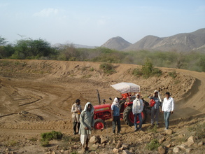 Under construction of a rain water harvesting