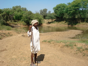 Pastoralist uses Orans' Talabs- water source