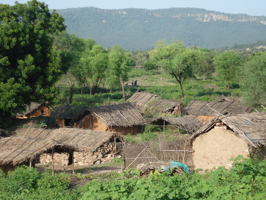 View of a village Umari located in Sariska