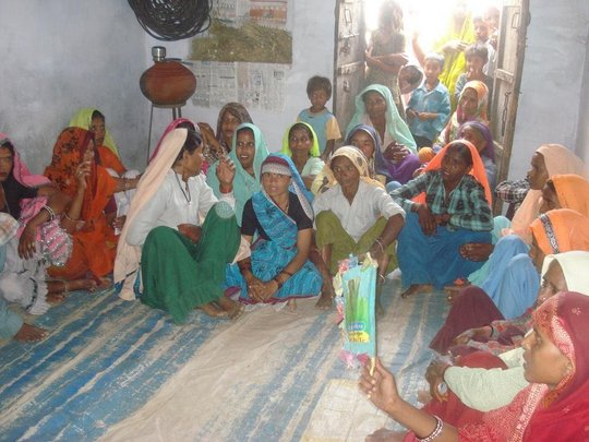 Women's Self-Help Group Meeting, Alwar, Rajasthan