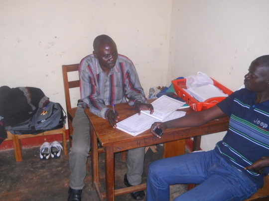 Kaganga John and one of the community members