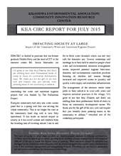KEACIRC Report For July 2015 (PDF)
