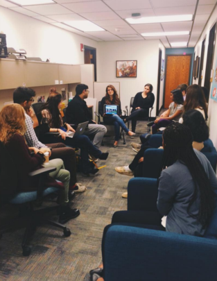 GlobeMed staff meet to strategize on next steps