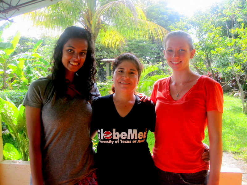 GROW interns Madison & Rashi w/Nurse Marlene Cruz