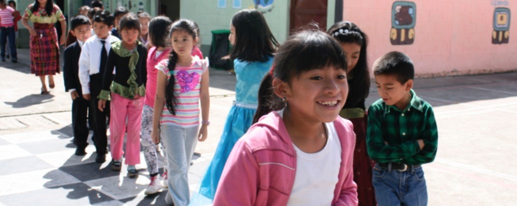 A school girl at Escuela de la Calle (Guatemala)