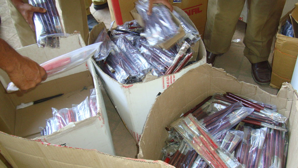Boxes of Mongoose Hair Brushes were seized